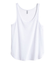 Ribbed vest top