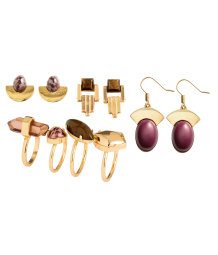 Earrings and rings