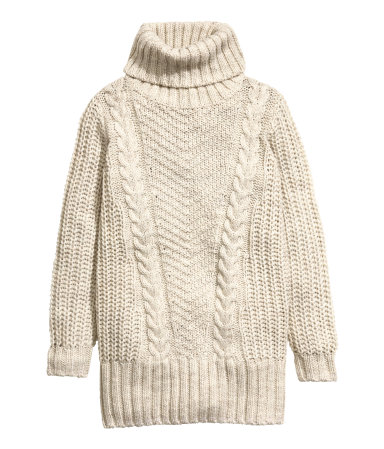 Turtleneck Sweater | Light beige | SALE | H&M US