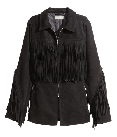 ralph lauren for less - suede fringe jacket in chocolate brown