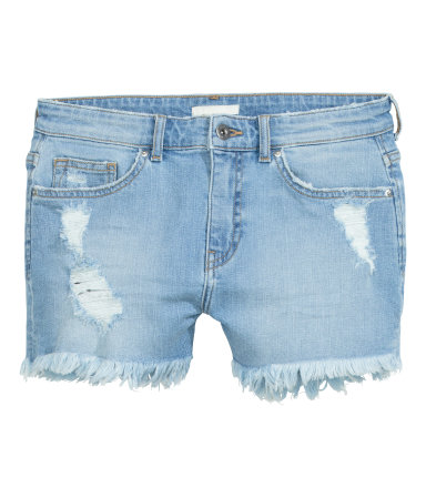 Denim Shorts | Light denim blue | Women | H&M US