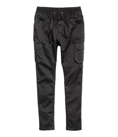 Twill Cargo Pants | Black | Men | H&M US
