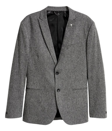Melange Blazer Slim fit