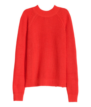 Knit Mock-turtleneck Sweater | Red | SALE | H&M US