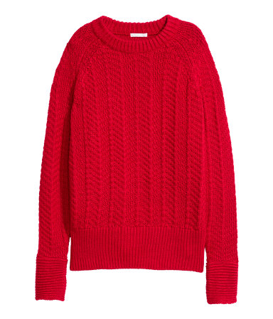 Knit Sweater | Red | SALE | H&M US
