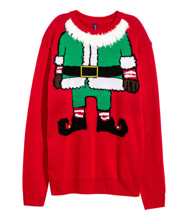 Sweater with Christmas Motif