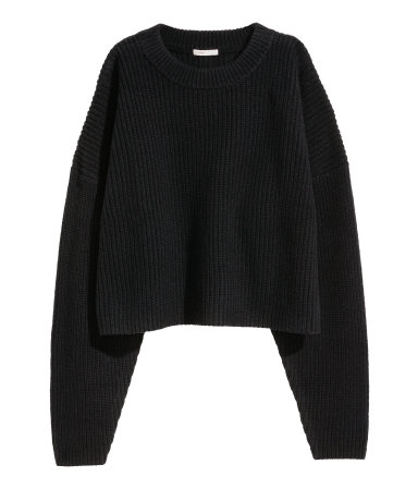 Chunky-knit Wool Sweater | Black | SALE | H&M US