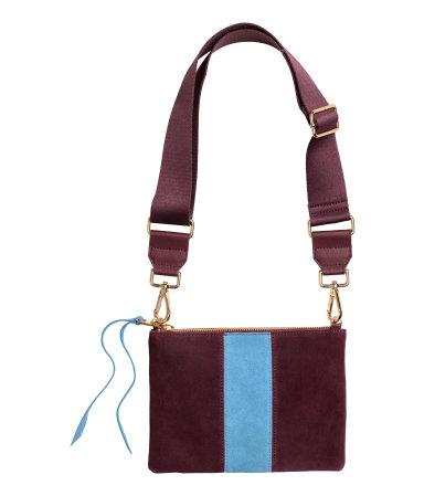 Shoulder Bag with Suede Detail