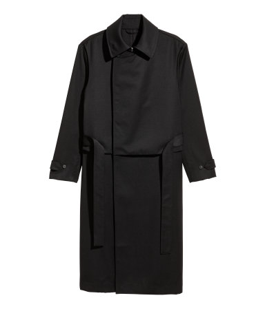 Wool Trench Coat | Black | SALE | H&M US