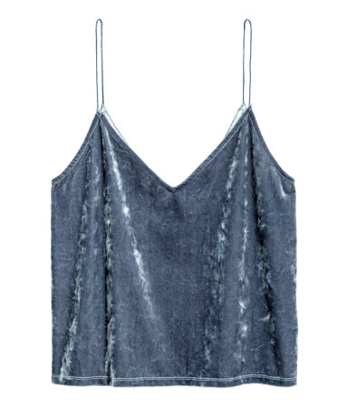 Crushed-velvet Camisole Top