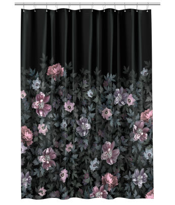 black and red shower curtain set. Photo print Shower Curtain Bathroom  H M Home Shop online or in store US
