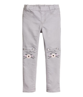 Treggings with Embroidery