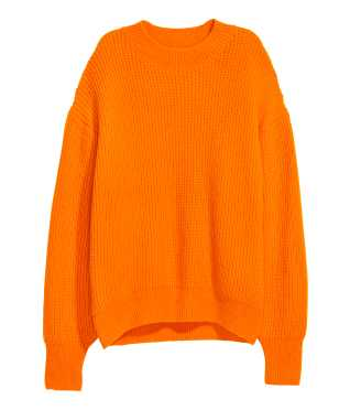Rib-knit Sweater | Orange | SALE | H&M US