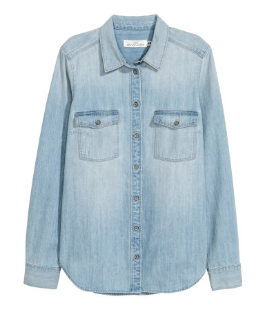 h&M light denim shirt
