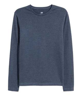 Long-sleeved T-shirt Slim fit | Black | SALE | H&M US