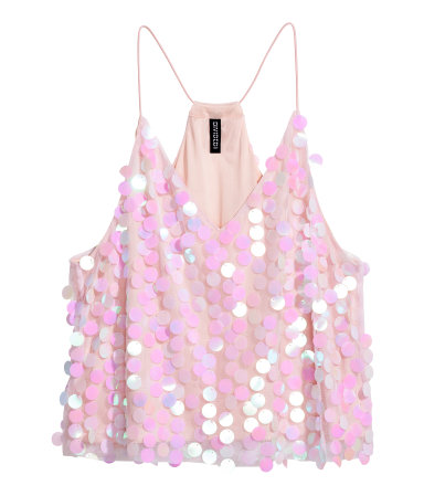 Mesh Top with Sequins