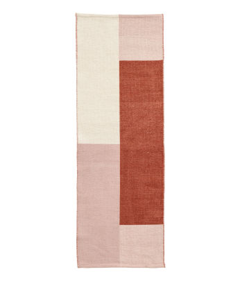 Color-block Wool-blend Rug