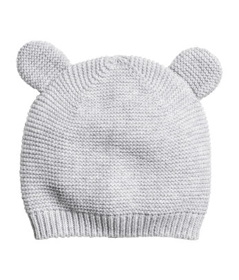 Fine-knit Hat with Ears