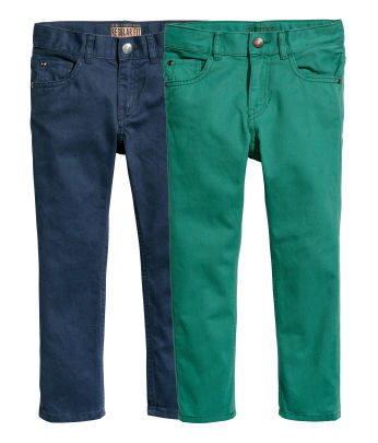 2-pack Twill Pants Regular fit