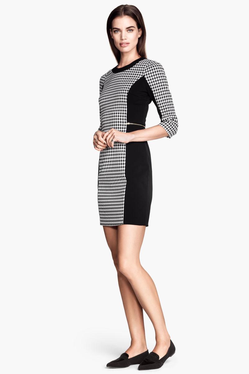 Houndstooth Dress | Black/white | SALE | H&M US