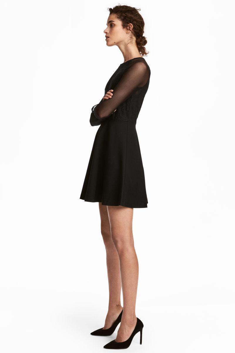 Kurzes Kleid | Schwarz | DAMEN | H&M DE