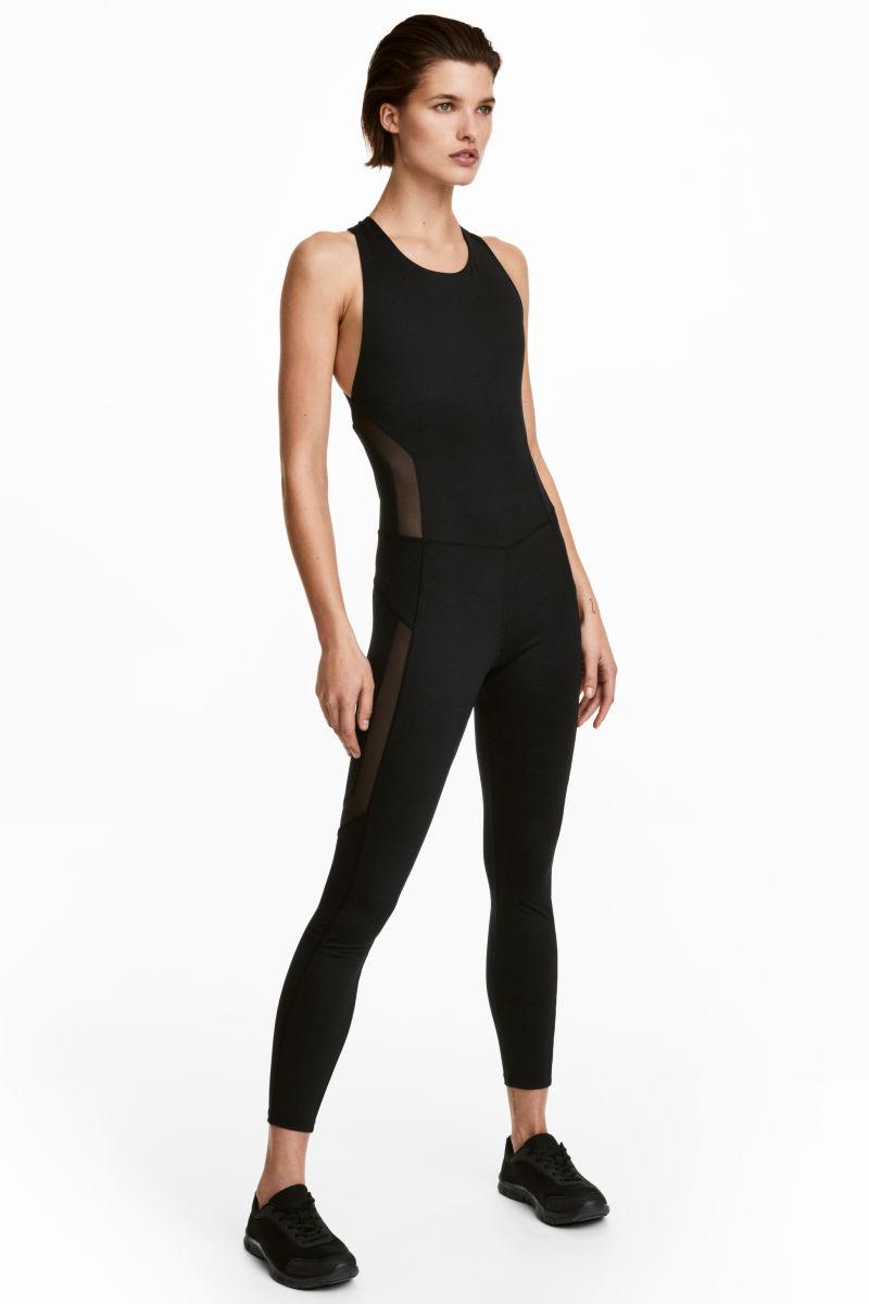 sports jumpsuit black sale h m us. Black Bedroom Furniture Sets. Home Design Ideas