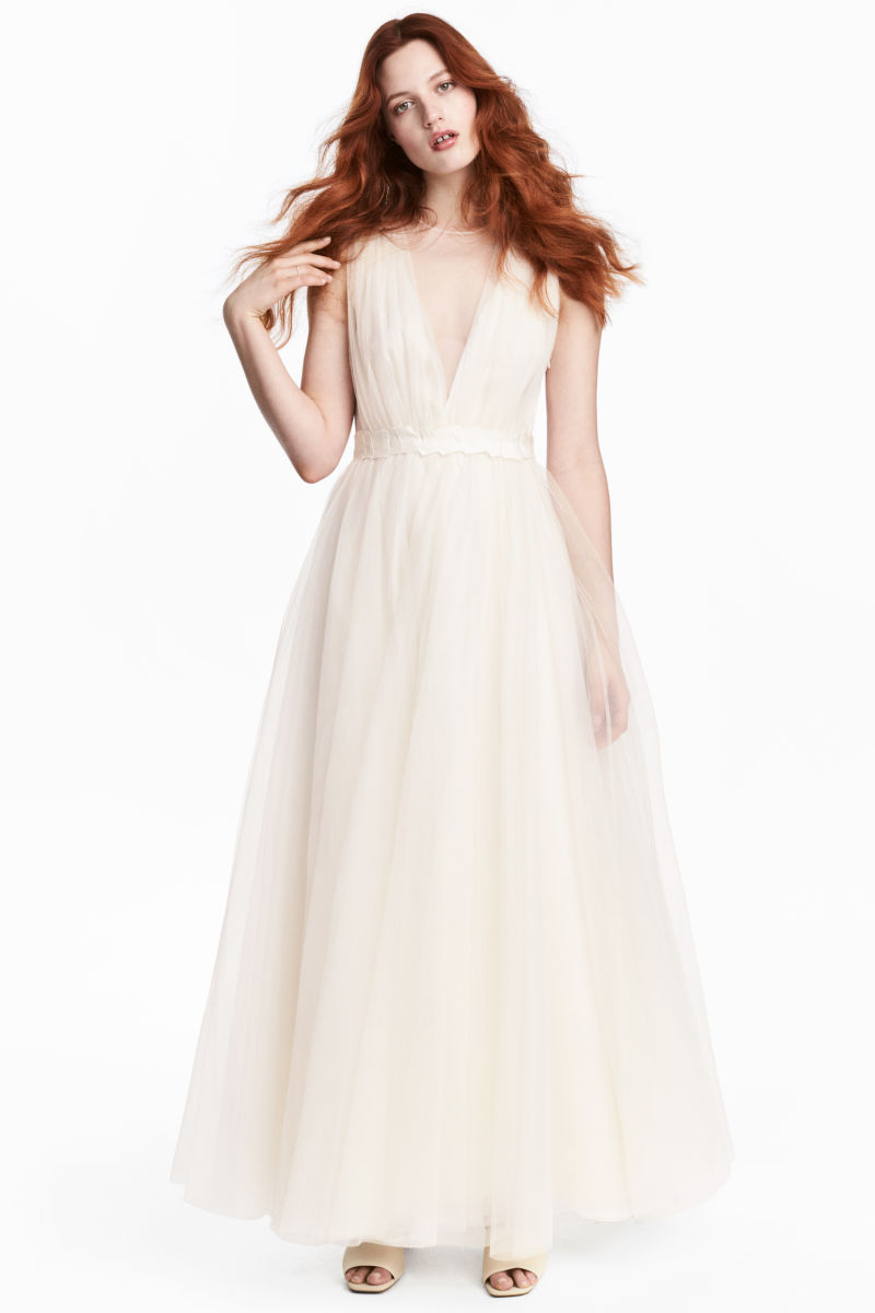 Tulle Wedding Dress | Natural white | SALE | H&M US