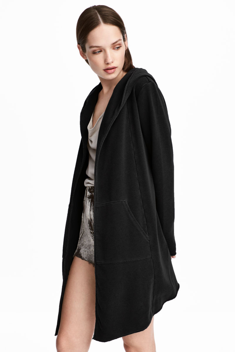 sweatshirt cardigan black sale h m us. Black Bedroom Furniture Sets. Home Design Ideas
