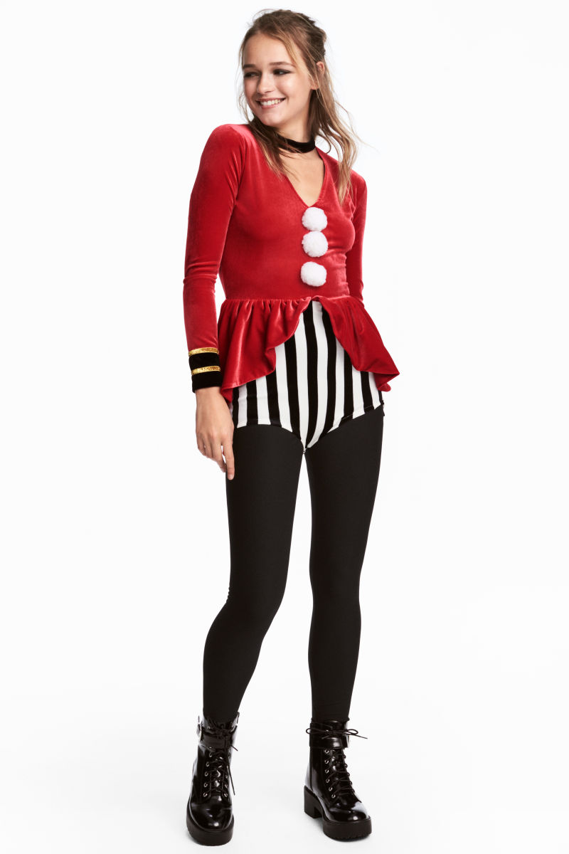 circus costume red white striped sale h m us. Black Bedroom Furniture Sets. Home Design Ideas