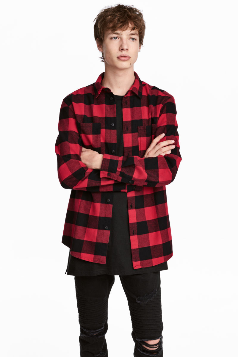 Flannel Shirt Red Black Plaid Men H M Us