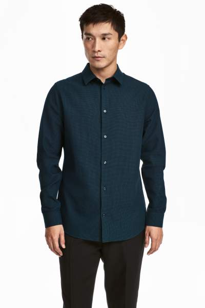Dobby-weave Shirt Slim fit