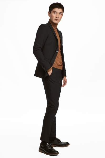 Wool Suit Pants Skinny fit