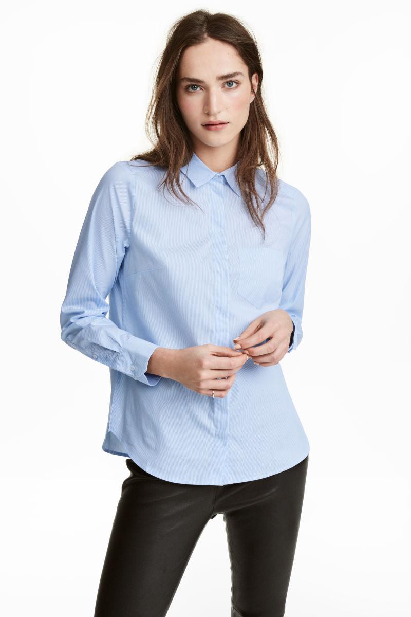 fitted shirt light bluestriped women hampm us
