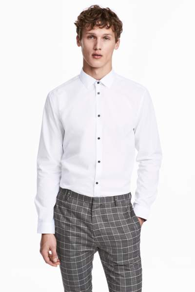 Cotton-blend Shirt Slim fit