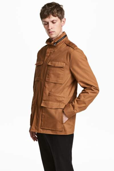 Cotton Twill Cargo Jacket