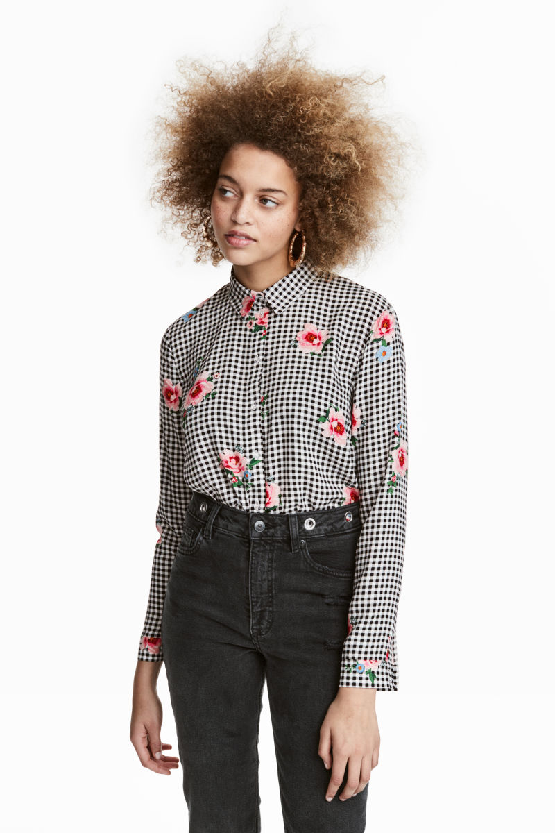 Patterned Viscose Shirt