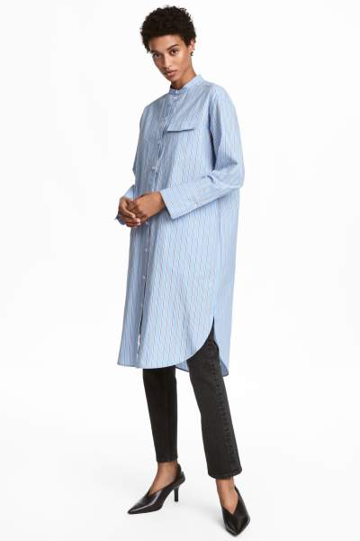 Pima Cotton Shirt Dress