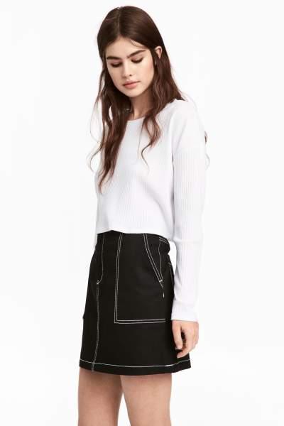 Short Twill Skirt