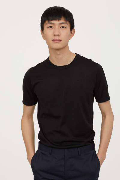 Fine-knit Silk-blend T-shirt
