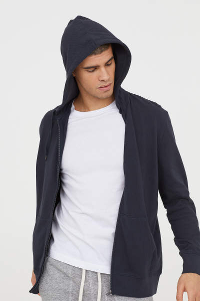 Piqué Hooded Jacket