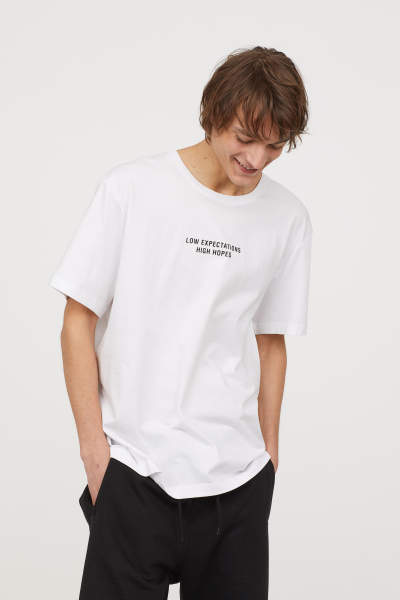 T-shirt with Printed Design