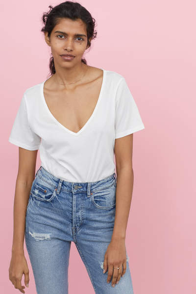 V-neck Cotton Top