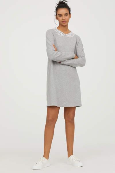 Buy Sweatshirt Dress with Collar!