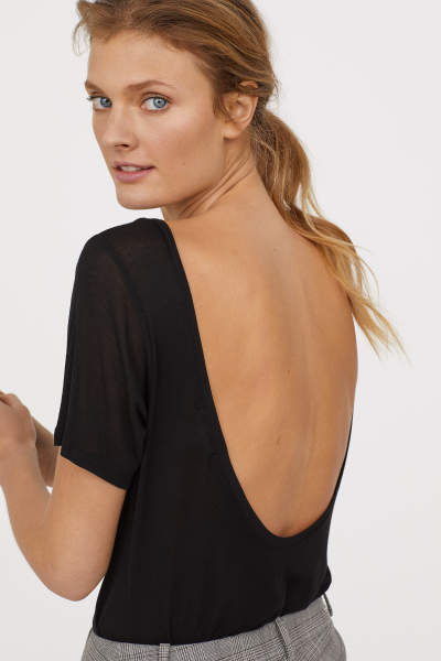 Top with Low-cut Back