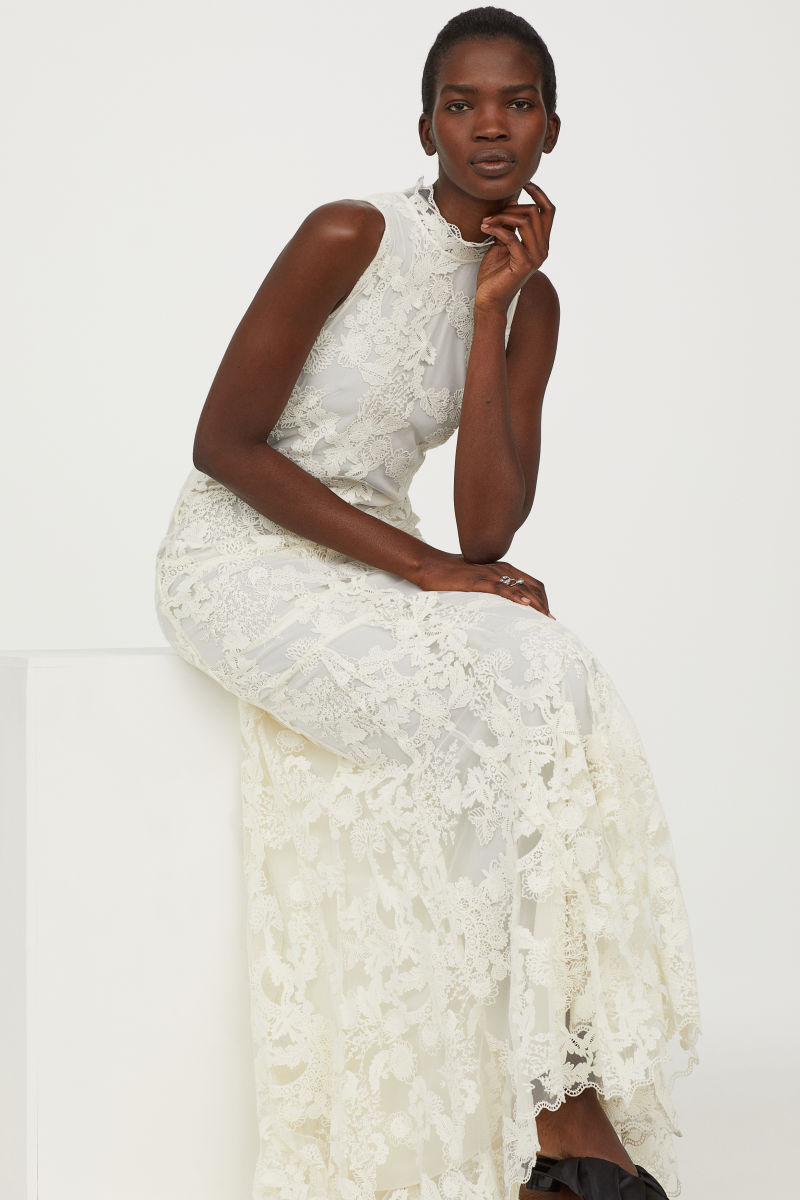 Long Lace Dress | Natural white | WOMEN | H&M US