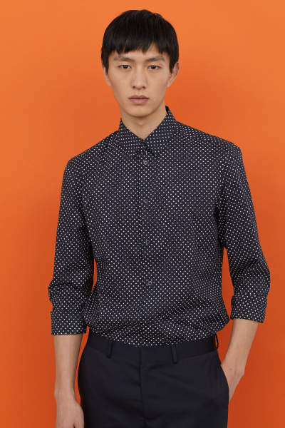 Slim Fit Dotted Shirt