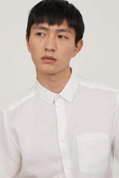 Slim Fit Short-sleeved Shirt