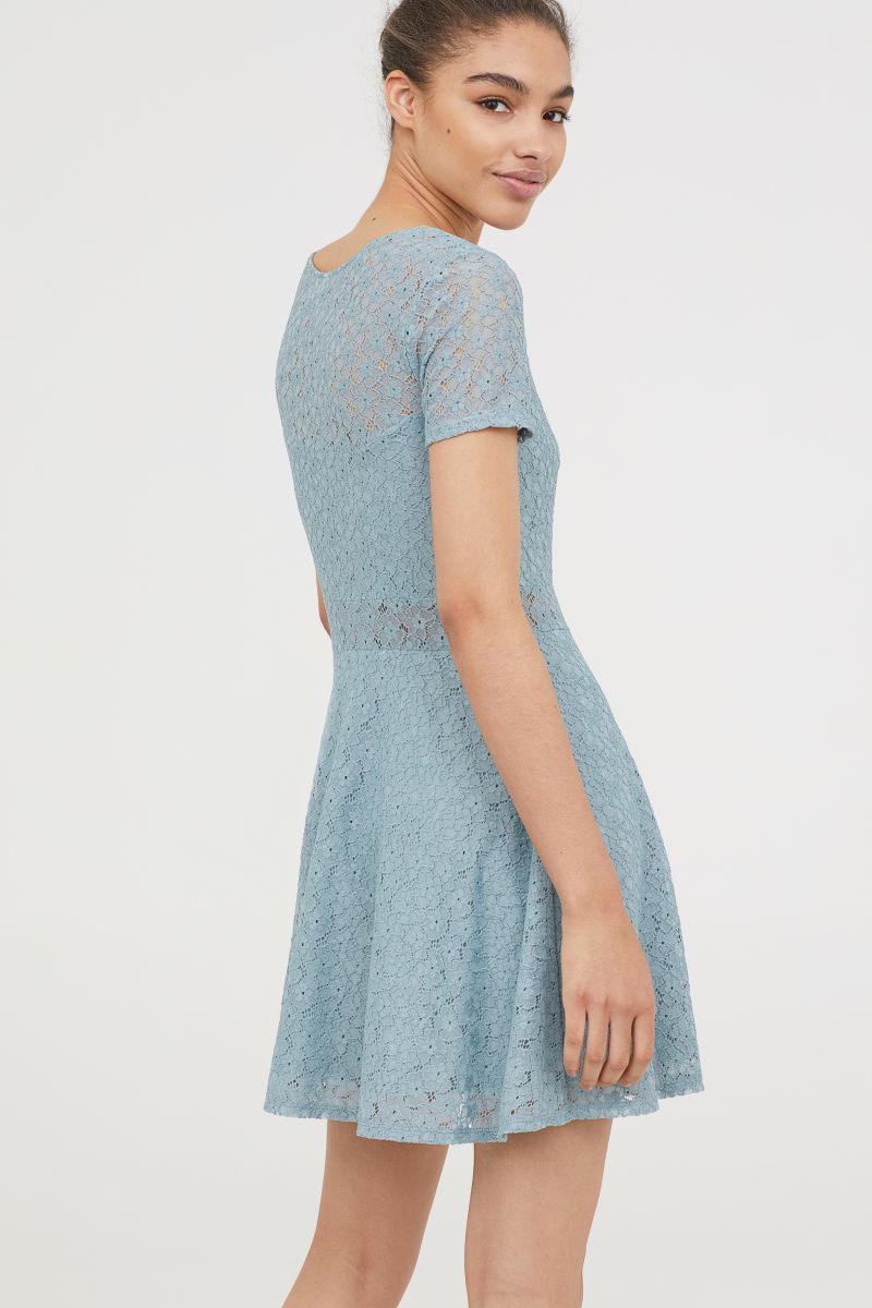 Short Lace Dress | Light turquoise | SALE | H&M US