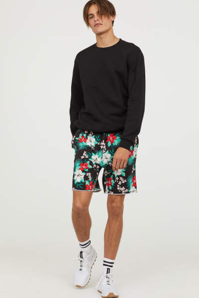 Patterned Sweatshorts