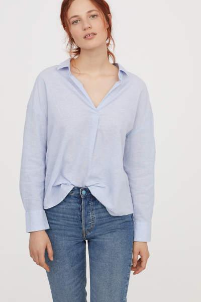 Oversized Linen-blend Shirt